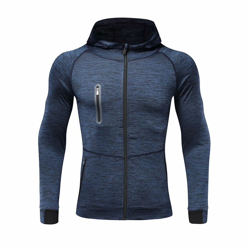 Men Autumn Hooded Sports Coat Quick-dryingworkout Running Training Athletics Gym Zipper Casual Hoodie Coat