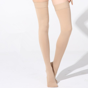 25-30 mmHg Varicose Veins Stockings For Men Women Nurses Thigh High Medical Compression Closed Toe Extra Firm Support Stockings