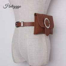 HATCYGGO Fanny Pack For Women Detachable Waist Belt Bag Leather Bags Female Messenger Bum Phone
