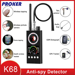 Anti Spy Wireless RF Signal Detector Bug GSM GPS Tracker Hidden Camera Eavesdropping Device Military Professional Version K68