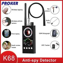 Anti espion sans fil RF détecteur de Signal Bug GSM GPS Tracker caméra cachée dispositif d'écoute militaire professionnel Version K68