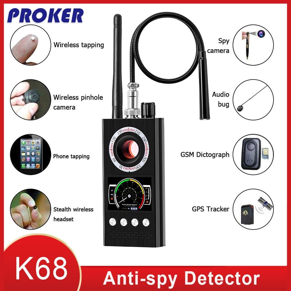 Detector de señal RF inalámbrico Anti espía Bug GSM GPS Tracker cámara oculta dispositivo de escucha versión militar profesional K68