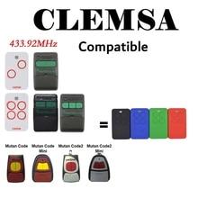 Garage-Control CODE Commands Mt2-Door for CLEMSA Mv1/12/123-mutan MT1