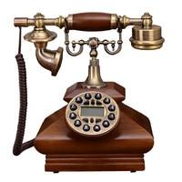 quadrate Wood Phone Antique Landline Telephone Vintage Home office Fitted fixed Phone Telefone telefonos fijos de casa