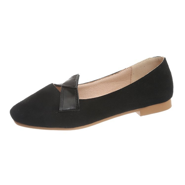 Women's Flats Slip-On Autumn Fashion Toe Casual Solid Square All-Match 35-40