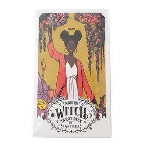 Веселая Современная ведьма, гадание, дети, взрослые, загадочная бумага с покрытием, семейные вечерние, дорожные, прочные, таро, палубные карт...