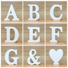 1pc 10CM drewniane drewniane litery biały alfabet ślub Birthday Party dekoracje do domu Diy spersonalizowana nazwa projekt 3.94 cali