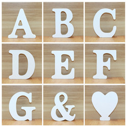 1pc 10CM Wood Wooden Letters White Alphabet Wedding Birthday Party Diy Home Decorations Personalised Name Design 3.94 Inches