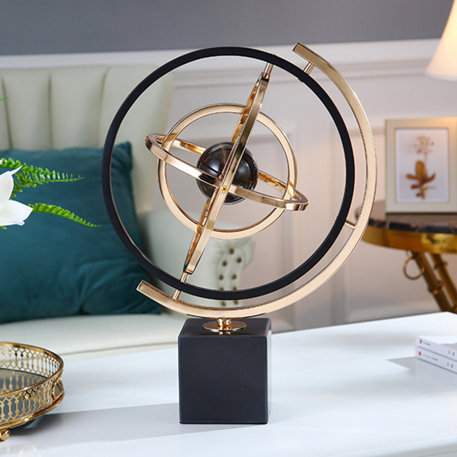 Luxury Marble Material Globes Light Luxury Changeable Globe Miniature Model Friendship Housewarming Gifts Home Office Decoration