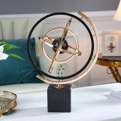 Marbre de luxe matériel Globes lumière luxe variable Globe Miniature modèle amitié pendaison de crémaillère cadeaux décoration de bureau à la maison
