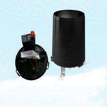 Sensor de lluvia tipo volquete, ABS/material de metal de acero inoxidable, interruptor de pulso opcional, cantidad y 485 de salida, medidor de lluvia