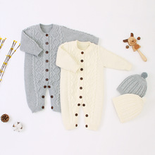 Newborn Baby Romper 2019 New Girl Boy Clothes Jumpsuits Autumn Winter Warm Long Sleeve Rompers
