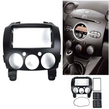 Car Stereo Fascia Dashs Panels 2Din Frame Trim Kit Fit For Mazda 2/ Demio 07-14