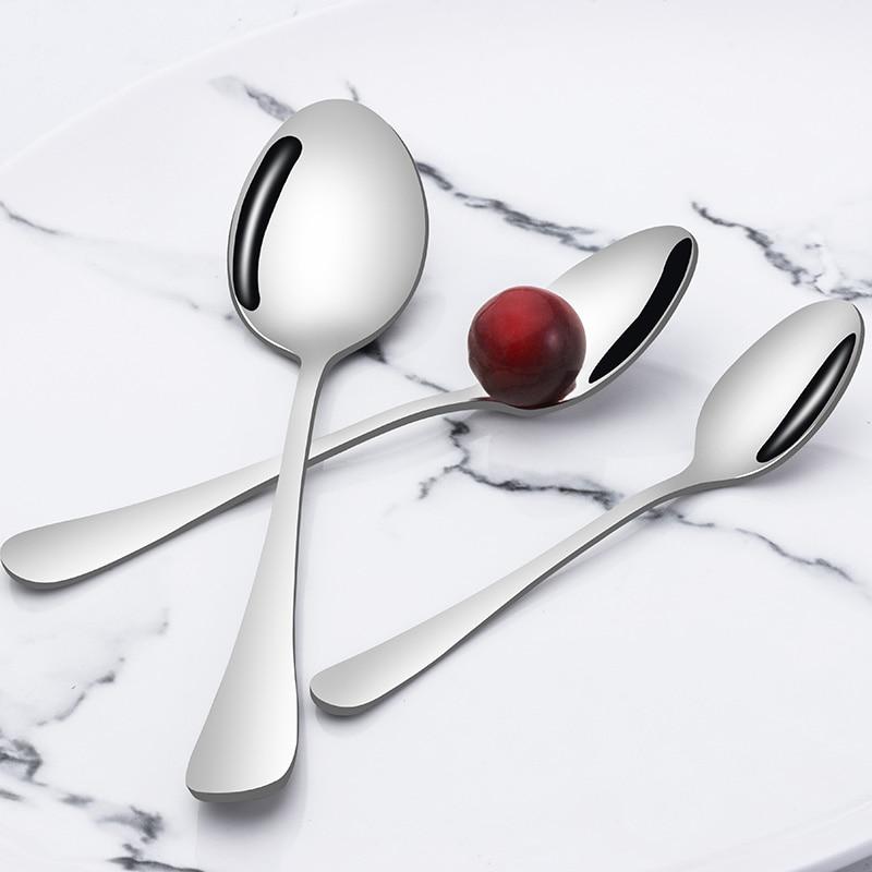 3Pcs Spoon for Home Cafe Restaurant Hotel for Dessert Coffee Tea Sundae