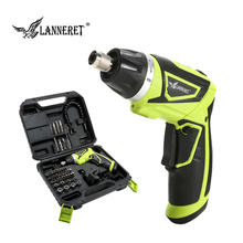 LANNERET Cordless Electric Screwdriver 7.2V Li-ion Household Rechargeable Twistable Handle 18W Wood Working Tools