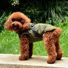 Жилет для маленьких собак, для питомцев, зимний, теплый, 2 в 1, одежда, стеганая куртка для маленьких щенков, для собак, с принтом, пальто для холодной погоды