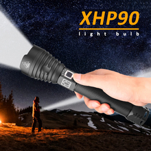 Most Powerful XHP90 LED Flashlight Electric Torch USB Rechargeable Tactical
