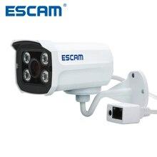 Escam Mini caméra de Surveillance extérieure Bullet IP POE HD 2.0 MP 1080P QD300, avec Vision nocturne infrarouge et protocole Onvif P2P