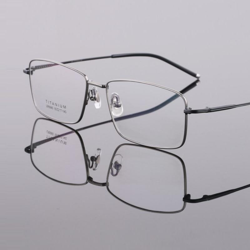 Width-145 Pure Titanium Frame New Big Face Business Men Eyewear Myopia Full Rim Glasses Frame Prescription Glasses Reading Glass