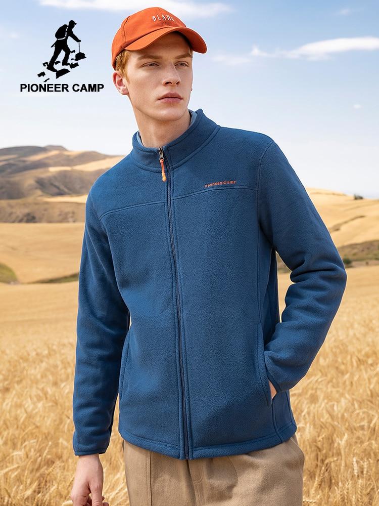 Pioneer Camp Short Collar Warm Fleece Hoodies Men Brand-clothing  Zipper Sweatshirts Male Quality Men Classic Style AJK902321