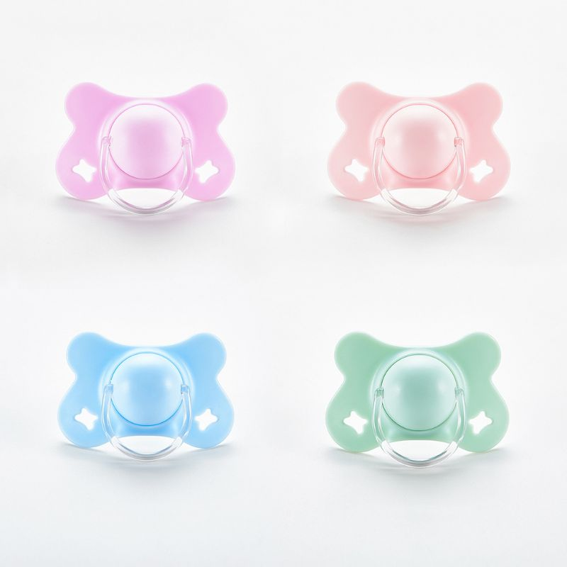 Baby With Lid Butterfly Shape Round And Flat Teat Silicone Sleep Pacifier Newborn Boys Girls Bite Chew Supplies
