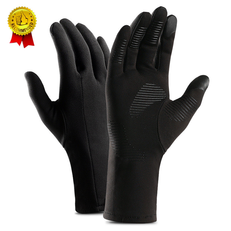 Drop Ship Winter Autumn Touch Screen Running Gloves Lightweight Non-slip Warm Villus Gloves Men Women Waterproof Motorcycle L XL
