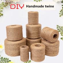 Cuerda de yute hecha a mano para jardín de infantes, decoración ambiental, Retro, gruesa, de cáñamo, Rop de lino
