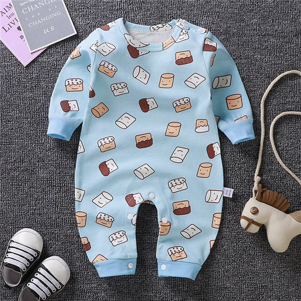 Newborn baby clothes 100/% Cotton Long Sleeve Spring Autumn Baby Rompers Soft