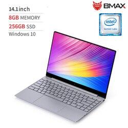 Bmax X14 Laptop 14.1 Inch Intel Gemini Lake N4100 Intel UHD Grafis 600 8GB LPDDR4 RAM 256GB SSD ROM Notebook