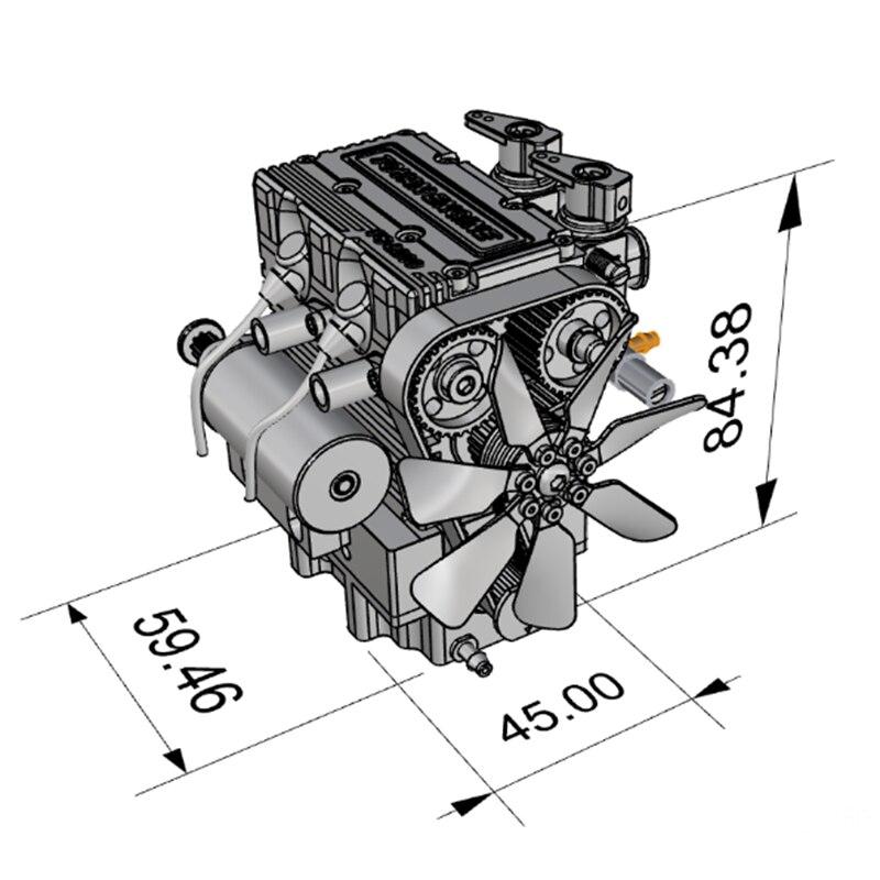 FS-L200 moteur bicylindre modèle moteur RC modèle moteur rouge modèle multi-modulaire Design high-tech cadeau d'anniversaire - 6