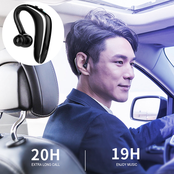 Professional Car wireless Business Bluetooth Headset With Microphone Long Standby For Business Teleconference Convenient Driving image
