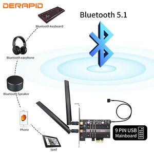 Image 3 - Adaptador WiFi inalámbrico de doble banda, 2,4 Gbps, AX200, Bluetooth 5,1, 802.11ax, tarjeta wifi PCI E de escritorio para tarjeta Wlan de red AX200NGW