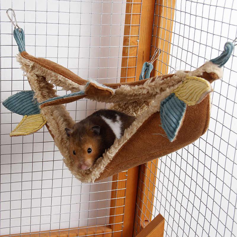 1pc zima robak krótki pluszowe cukier szybowiec hamak klatka rogu wiszące łóżko tunelu klatka małe zabawki dla zwierząt domowych dostaw