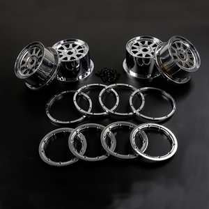 Image 2 - Plastic Chrome Front and Rear Wheel Hub with Ring Set for 1/5 Hpi Rofun Rovan Km Baja 5b SS Rc Car Toys Parts