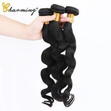 CHARMING Brazilian Body Wave Hair Bundles 100% Human Hair Weave Natural Color Non Remy Hair Extension 8-30 Inch 3pcs/a lot цены