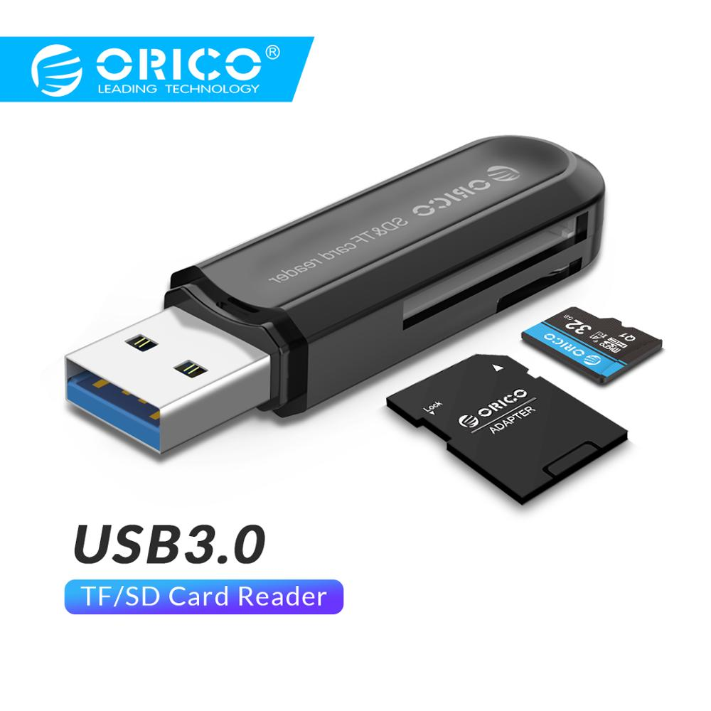 ORICO Card Reader USB 3.0 SD/Micro SD TF Memory Card Adapter For Macbook Pro Samsung Laptop USB3.0 Cardreader SD Card Reader