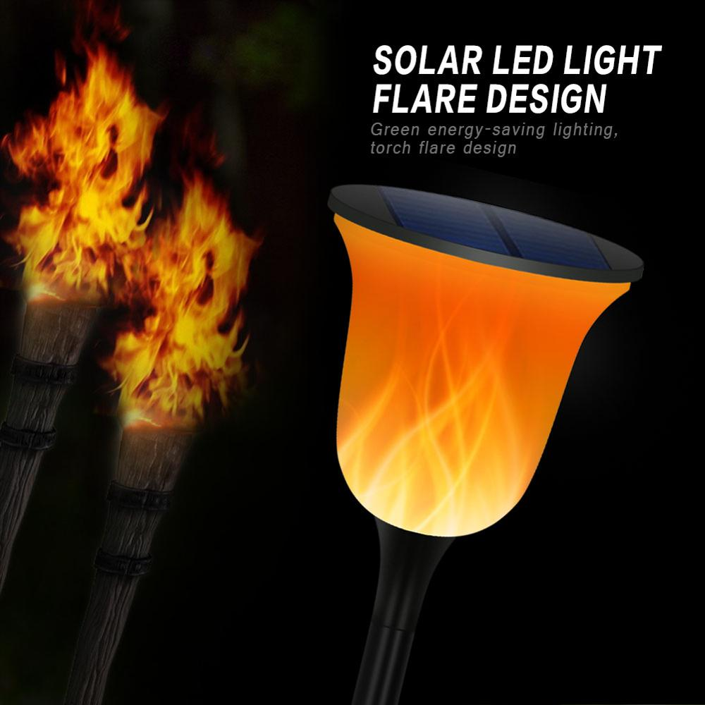 led chama cintilacao da lampada impermeavel lampada do gramado levou iluminacao do trajeto solar torch light