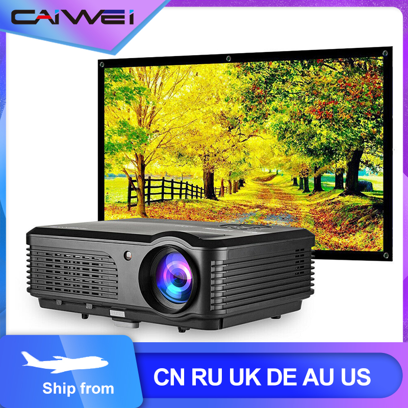 CAIWEI A6/A6AB 1080p projektor pełny projektor domowy HD teatr inteligentny Android WiFi LCD LED wideo Beamer dla Smartphone Proyector