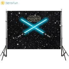 Photography Backdrop Planet-Party Star-Wars-Laser-Sword Sensfun Photo-Studio-Accessories