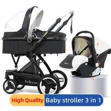 Luxury Baby Stroller 3 in 1 Baby Stroller Portable