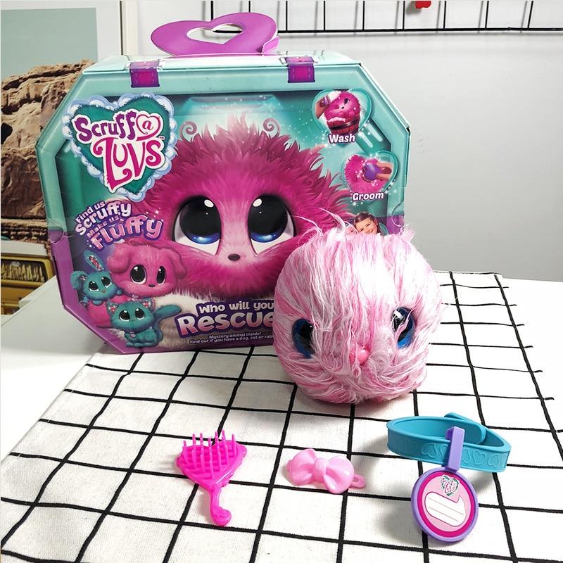 2019 novo scruff a luvse brinquedos de pelúcia banho cão gato coelho boneca russa presente da criança 3 cores de pelúcia speelgoede animais de pelúcia stiche