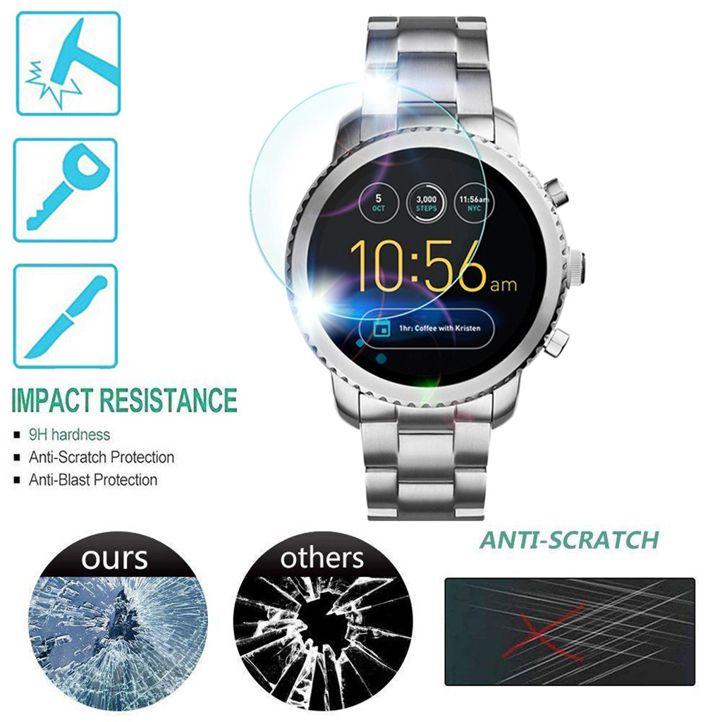 Tempered Glass For Fossil Gen3 Q Venture HR Smart Watch 3rd Screen Protector Anti Scratch Bubble Free Easy To Install