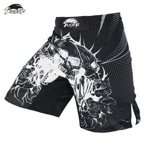 SUOTF боксерские спортивные мужские шорты с черепом, индивидуальное дыхание, дешевые шорты mma, большой фитнес, тайский боксерский шорты, тигро...
