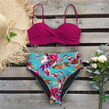 2019 Sexy Bandeau Bikinis mujeres traje de baño Bikini brasileño conjunto playa traje de baño Push Up traje de baño caliente Biquini ropa de baño