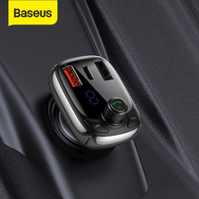 Baseus Car Charger Bluetooth Fm-zender MP3 Quick Opladen Dual Usb Type-C Lader Qc 3.0 PD3.0 Voor Iphone 11 Samsung S9