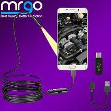 7mm 5mm endoskop kamera su geçirmez mikro USB LED endoskop Android telefon için akıllı telefon için mikro USB C tipi endoskop kamera