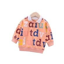 Весенне осенняя одежда для малышей Детский свитер с буквенным
