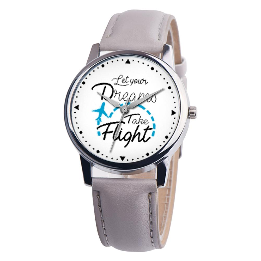 Women Watch Letters Design Faux Leather Band Unisex Casual Round Quartz Ladies Wrist Watches Gift Clearance Sale Female Watch