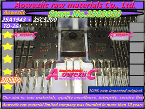 Image 2 - Aoweziic 2019 + 10 قطع = 5 زوج 100% جديد المستوردة الأصلي 2SA1943 2SC5200 A1943 C5200 TO 3P عالية الطاقة الصوت مكبر كهربائي أنبوب