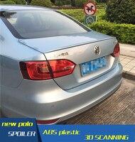 폭스 바겐 뉴 제타 스포일러 2012-2014 용 VW Je tta ABS 소재 자동차 리어 윙 프라이머 컬러 VW Je tta 리어 스포일러